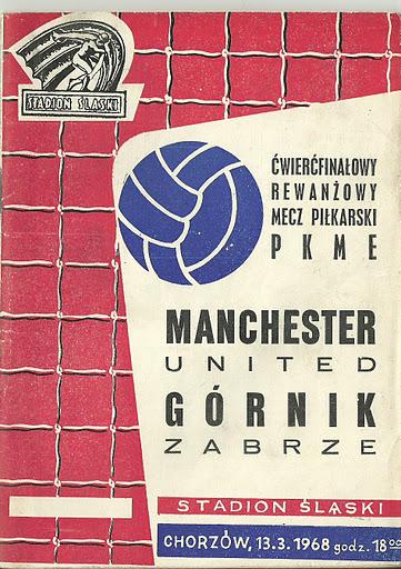13 marca 1968 Górnik Zabrze-Manchester United 1-0