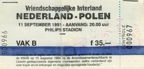 Holandia-Polska 1991