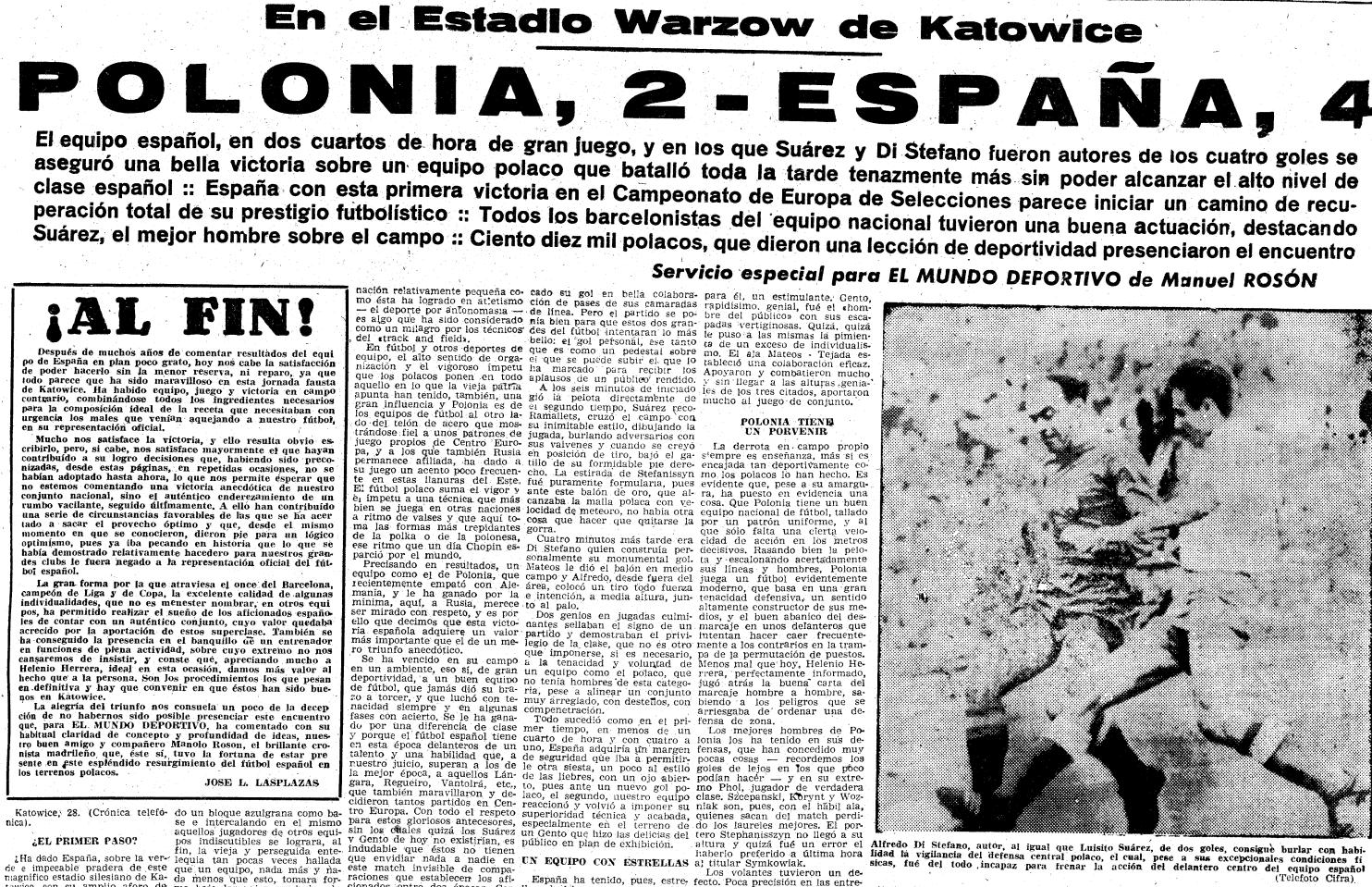 Polska - Hiszpania 1959