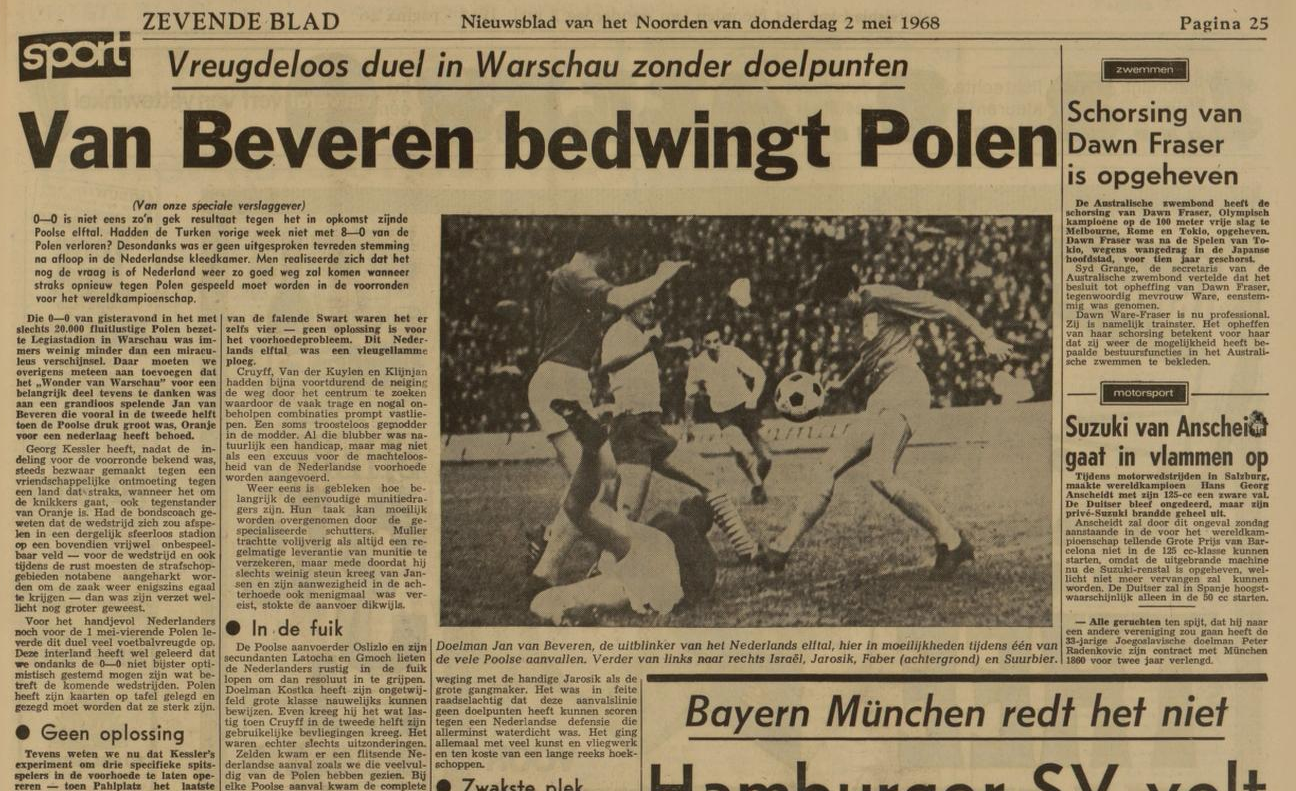 Polska - Holandia 1968
