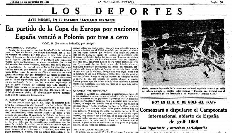 Hiszpania - Polska 1959- ABC Madryt