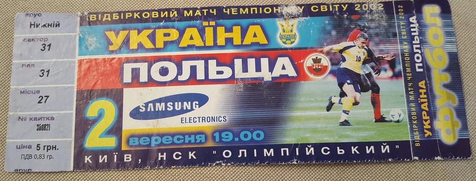 Ukraina - Polska 2000