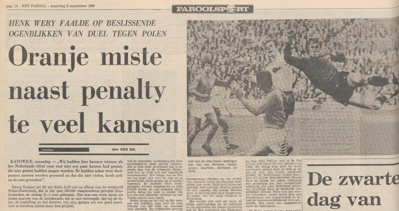 Polska - Holandia 1969