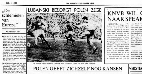 Polska- Holandia 1969