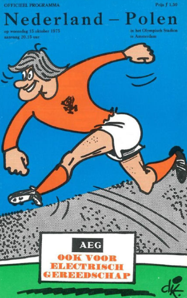 Holandia -Polska 1975 program, voetbalstats.nl