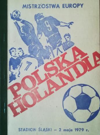 Polska - Holandia 2 maja 1979 program meczowy
