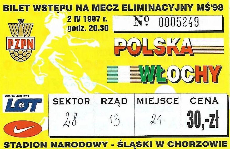 Bilet na mecz Polska - Włochy