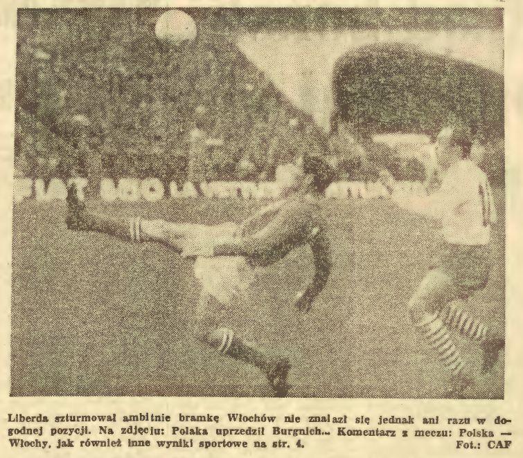 Mecz Polska – Włochy (18 kwietnia 1965 r.)