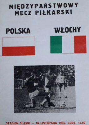 Plakat zapowiadający mecz polsko-włoski