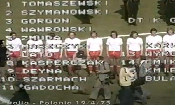 Mecz Włochy - Polska 1975