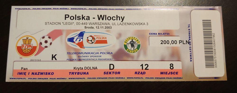 Polska wygrywa mecz z Włochami w 2003 r