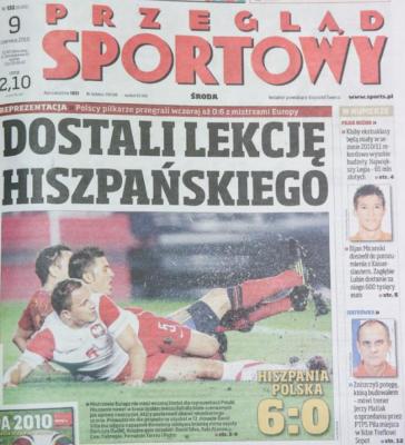 Hiszpania-Polska 6-0 2010. Foto: Przegląd Sportowy
