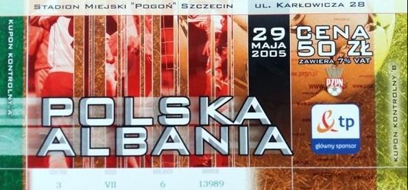 Polska - Albania 2005