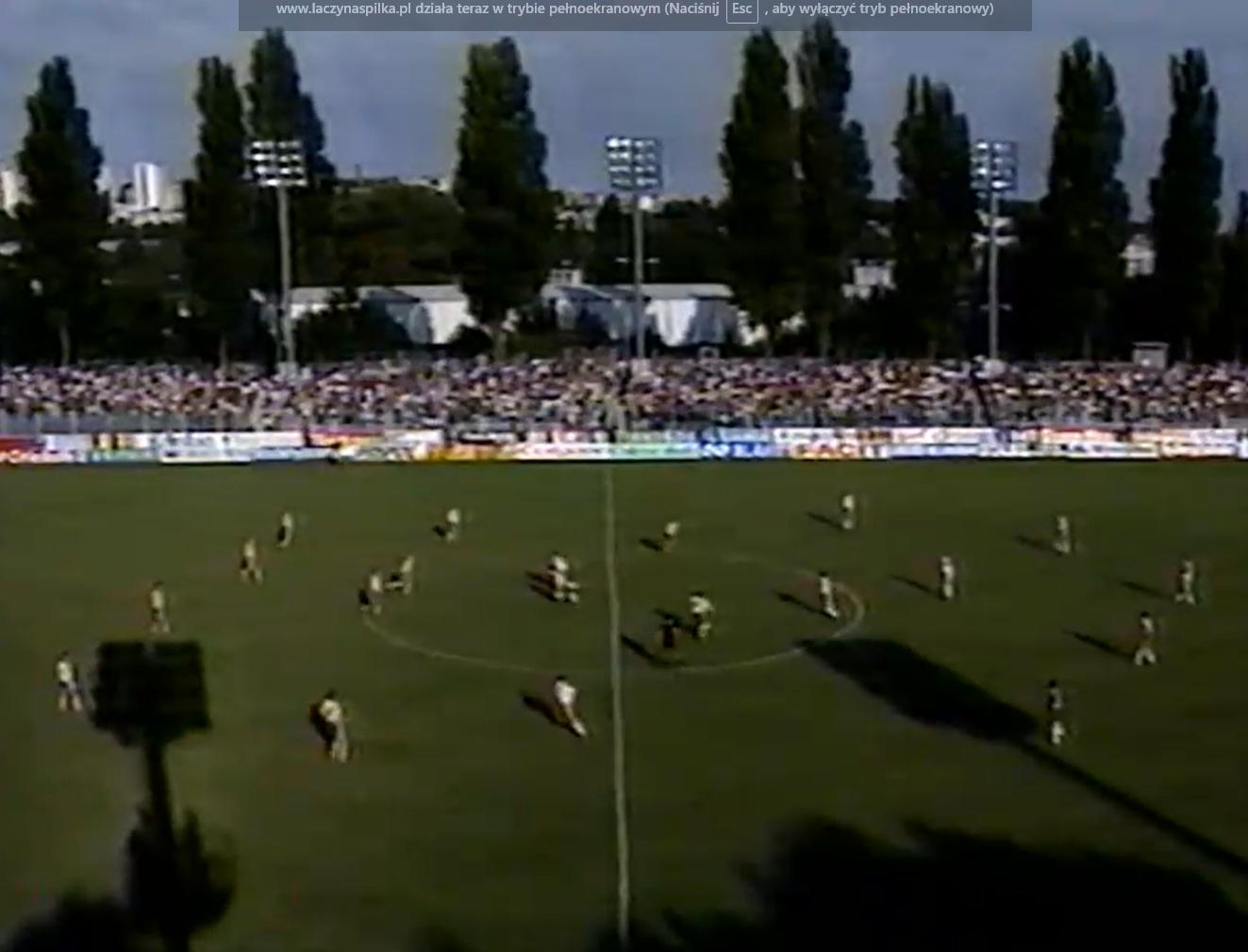 Polska-Szwecja 1991. Stadion w Gdynii