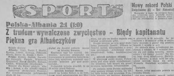 Albania-Polska 1949