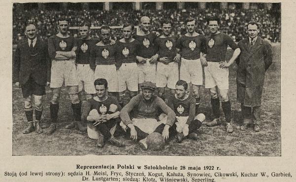 Szwecja-Polska 28 maja 1922. Sport z dn. 29.05.1922