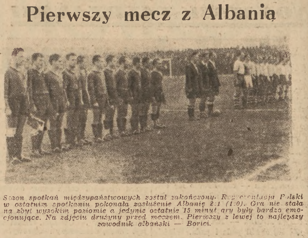 Polska - Albania 1949