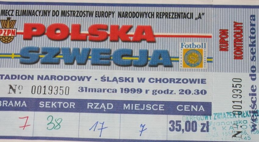 Polska - Szwecja 1999