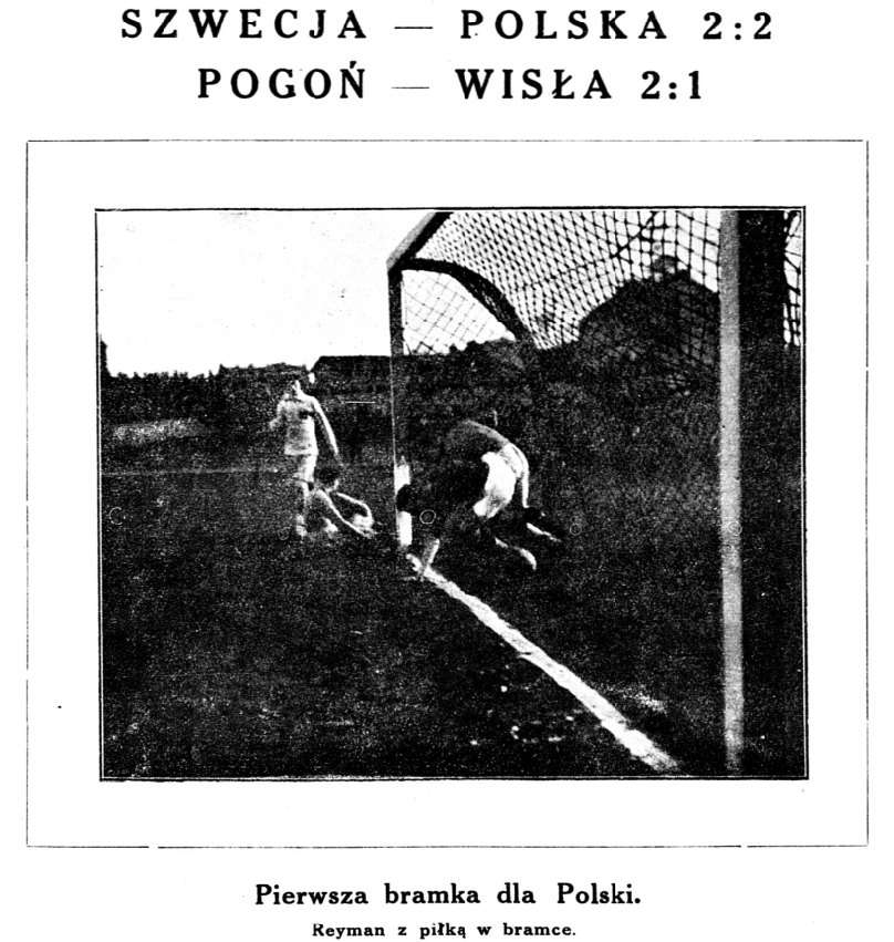 Polska - Szwecja 1 listopada 1923. Stadjon