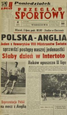 Polska - Anglia 1966 Chorzów
