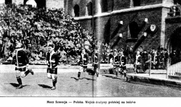 Szwecja-Polska 18 maja 1924 Stadjon z dn. 29.05.1924