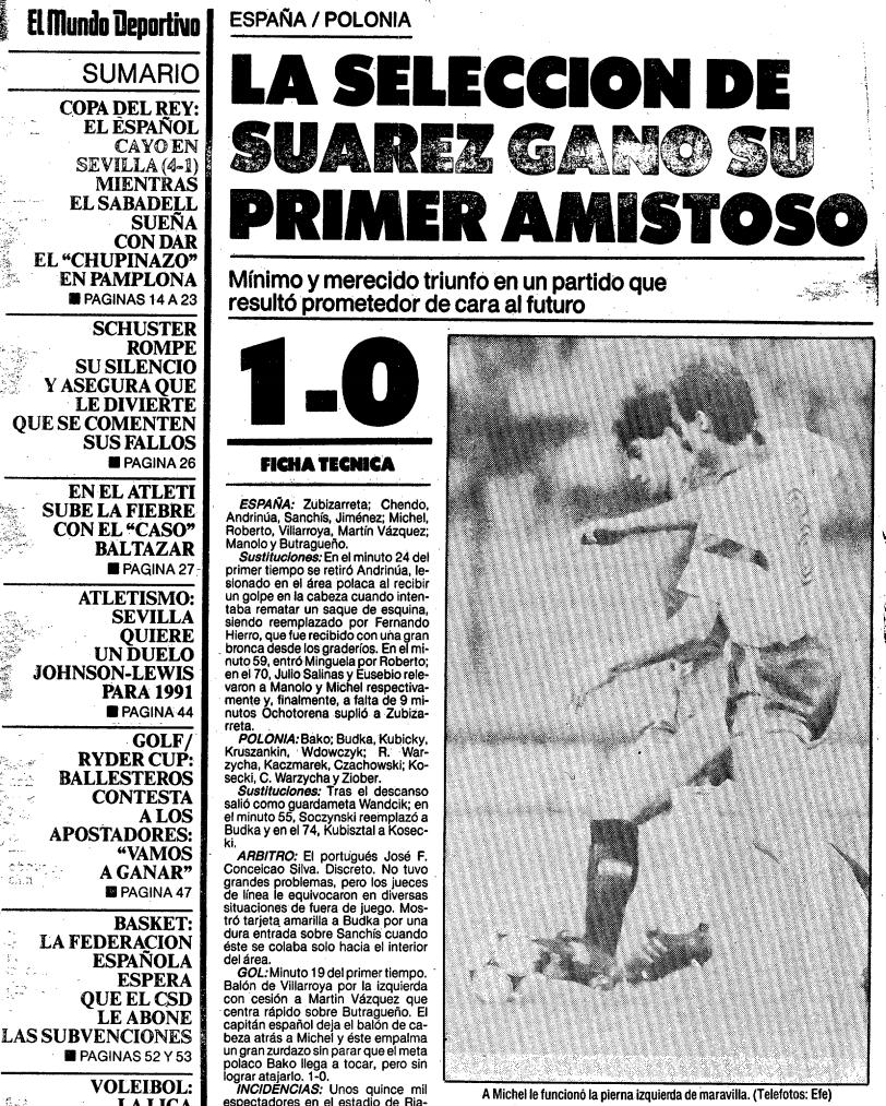 Polska - Hiszpania 1989 El Mundo Deportivo
