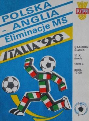 Polska - Anglia 1989 0:0