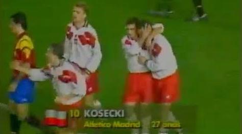 Hiszpania - Polska 1994 Źródło:Youtube