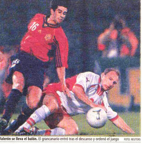 Polska - Hiszpania 1999 Źródło: El Mundo Deportivo