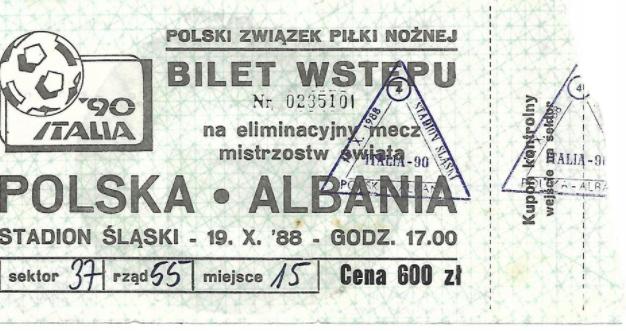 Polska - Albania 1988