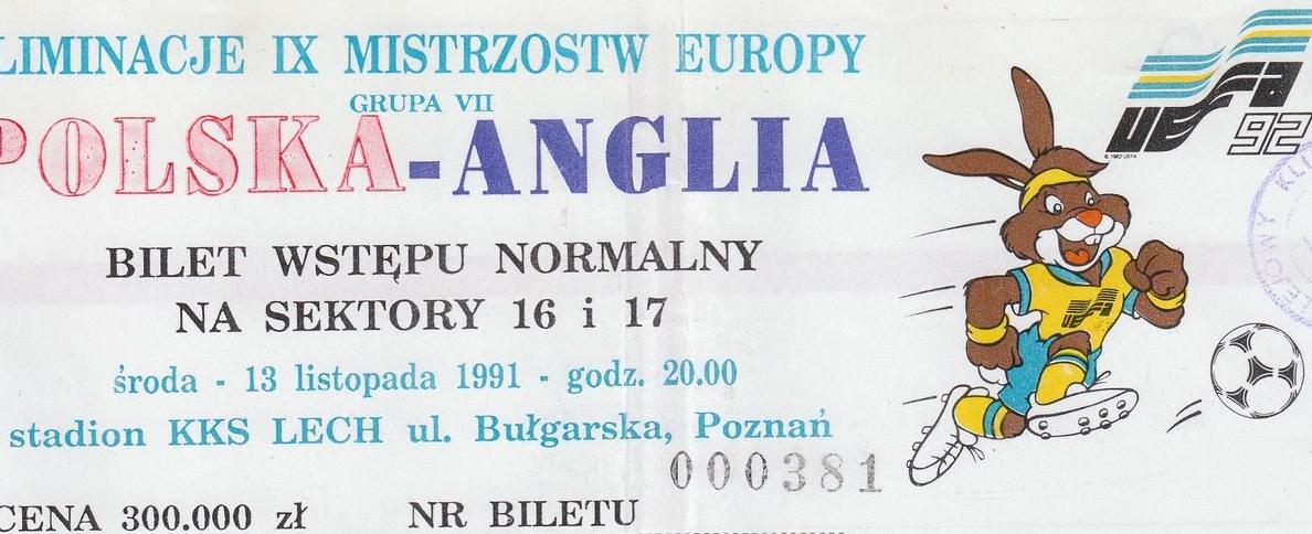 Polska-Anglia 1991