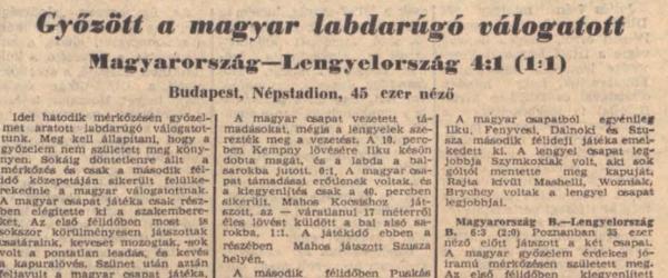 Węgry - Polska 1956