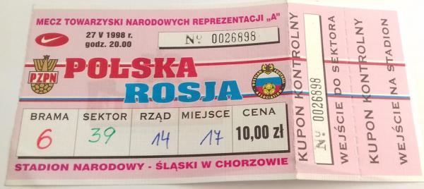 Polska - Rosja 1998