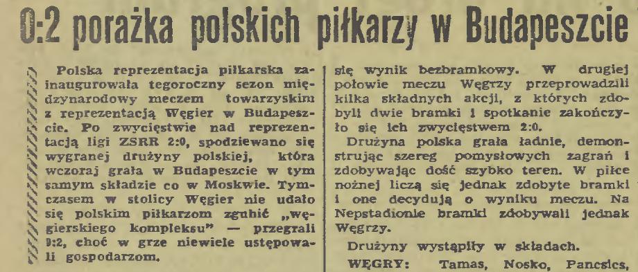 Węgry - Polska 1970