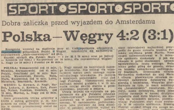 Polska-Węgry 1975.