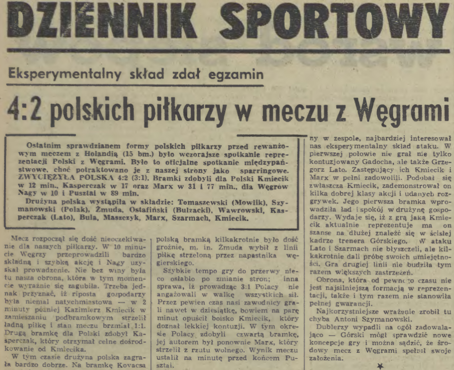 Polska-Węgry 1975