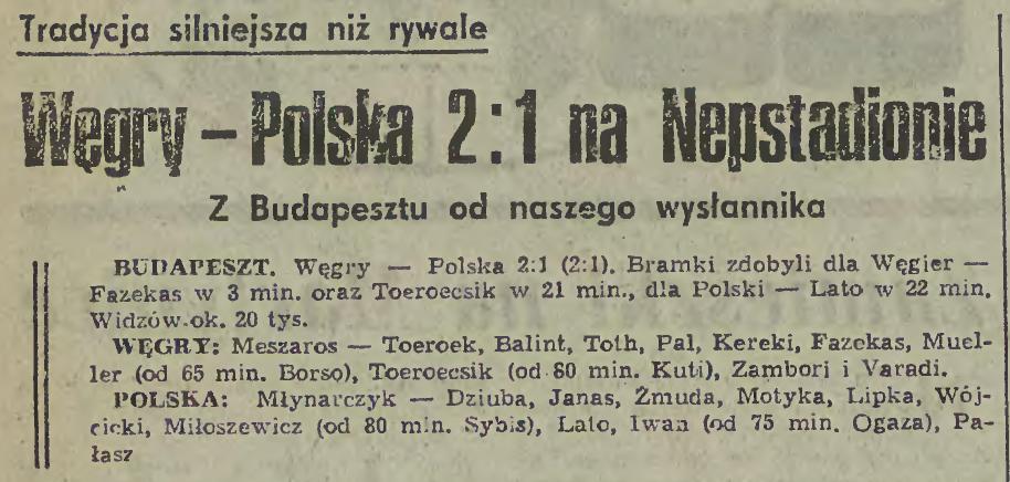 Węgry - Polska 26 marca 1980