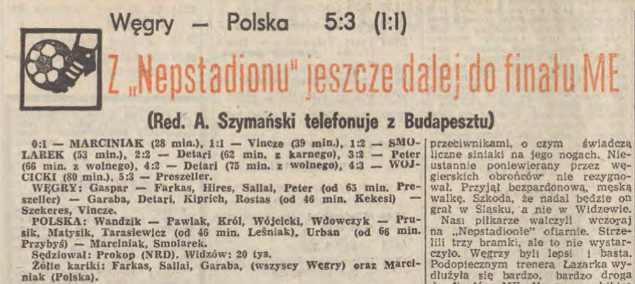 Węgry - Polska 13 maja 1987