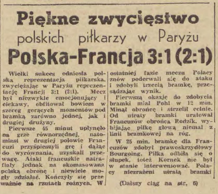 Francja - Polska 1962