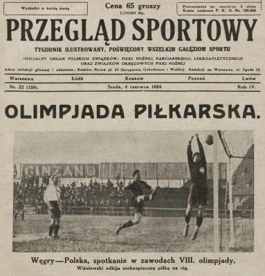 Węgry - Polska 1924 Igrzyska Olimpijskie Paryż