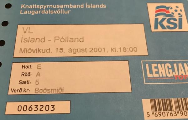 Islandia - Polska 2001
