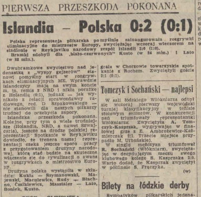 Islandia - Polska 1978