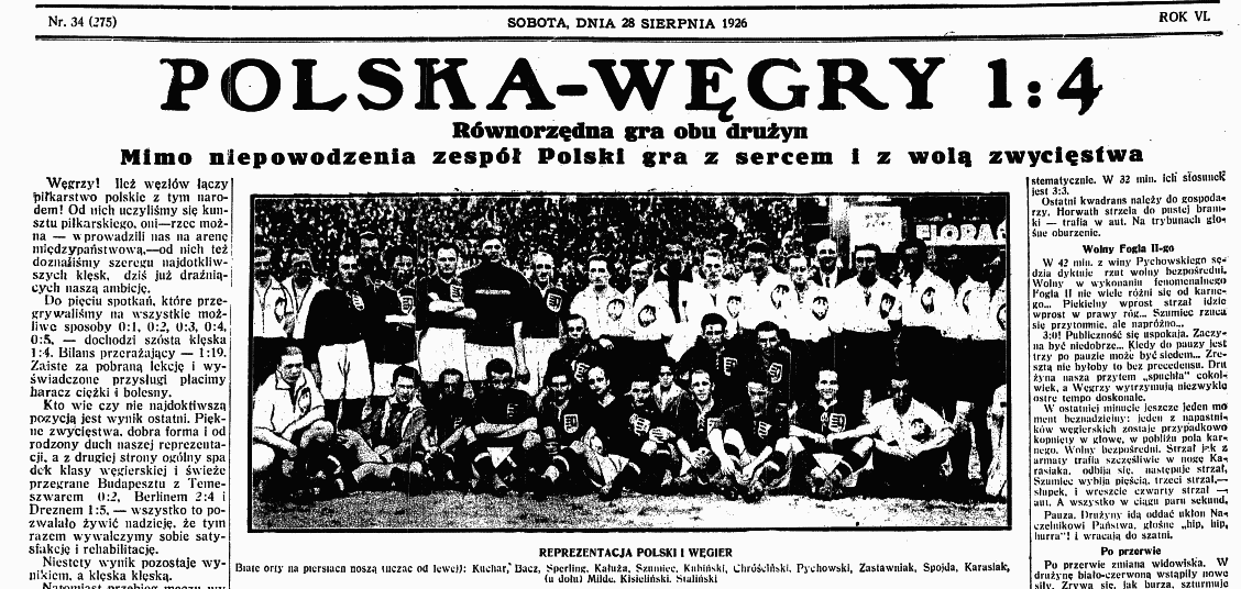 Węgry - Polska 1926