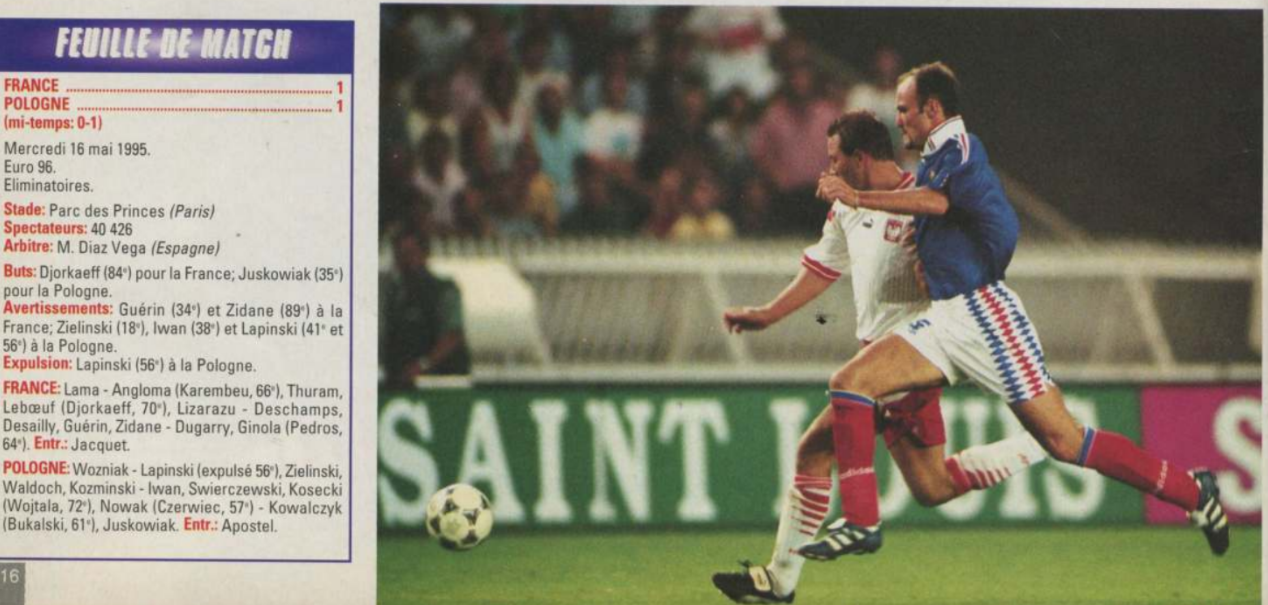 Francja - Polska 1995