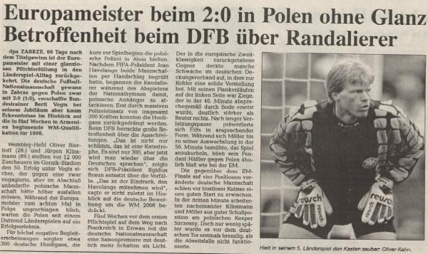 Polska - Niemcy 1996