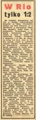 Brazylia - Polska 2-1 1966.
