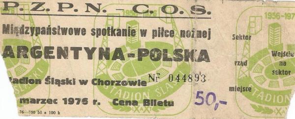 Polska - Argentyna 1976