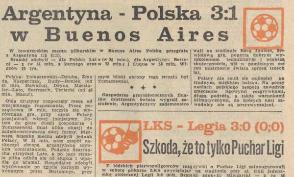 Polska - Argentyna 1977