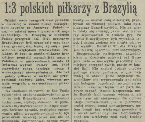 Brazylia - Polska 1977