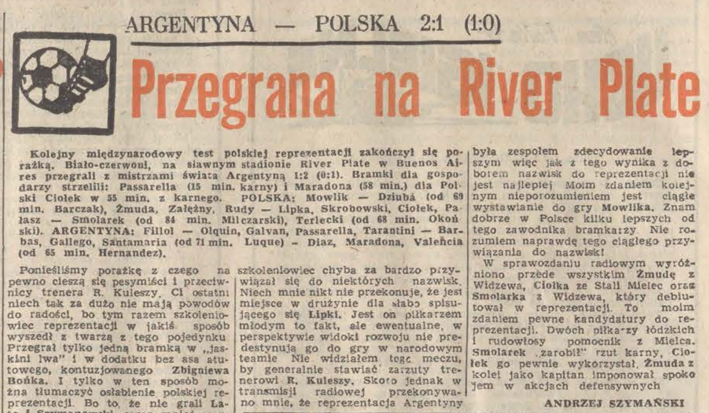 Argentyna - Polska 1980